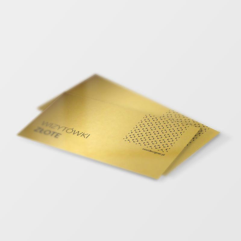 Wizytówka na złotym papierze